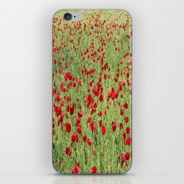 A Pasture Of Red Poppies and Remembrance iPhone Skin