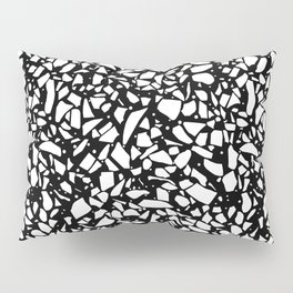 Terrazzo Spot 2 White on Black Pillow Sham