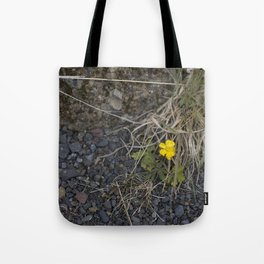 The Little Yellow Icelandic Flower Tote Bag