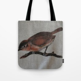 A red Bird Tote Bag