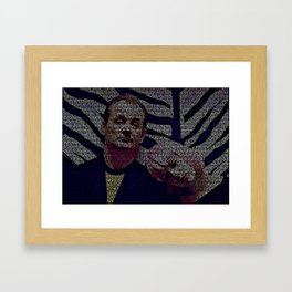 Text Portrait of Bill Murray and Scarlet Johansson with full script of Lost in Translation Framed Art Print