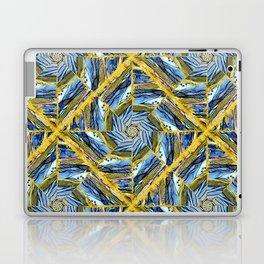 golden day kaleidoscope pattern Laptop & iPad Skin