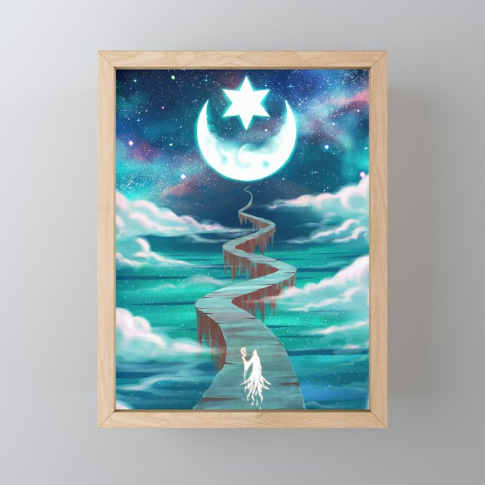 New Moon Framed Mini Art Print