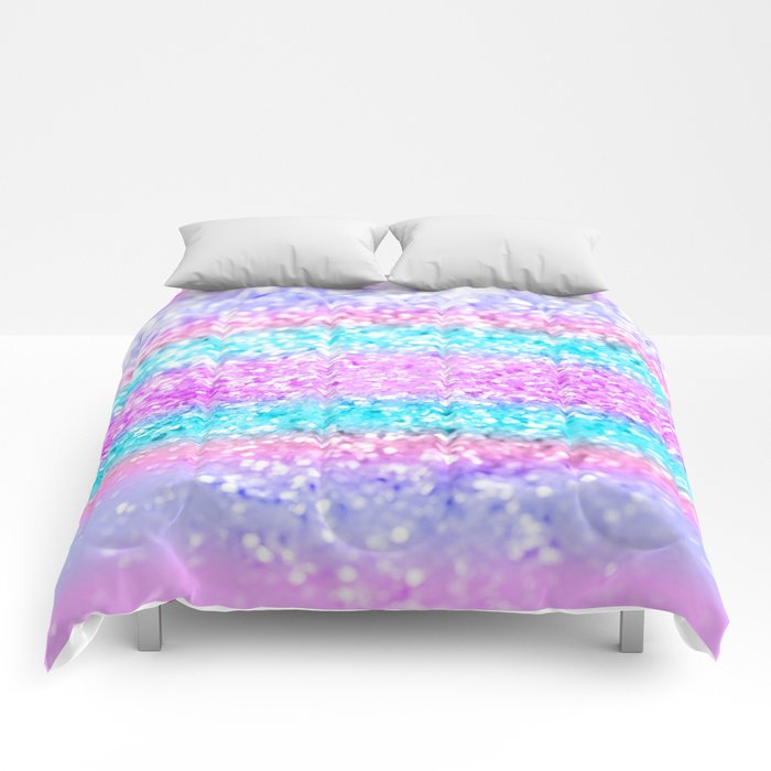 Unicorn Girls Glitter #15 #shiny #decor #art #society6 Comforters