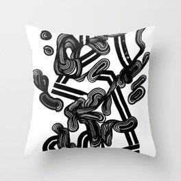 Flowing the velvet Throw Pillow