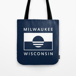 Milwaukee Wisconsin - Navy - People's Flag of Milwaukee Tote Bag