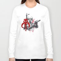 boba fett Long Sleeve T-shirts featuring boba fett by Lyxy