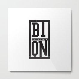 Butch Queen Initial Logo Metal Print