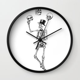 Skeleton juggles skulls Death Wall Clock