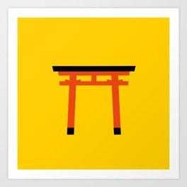 Torii (鳥居) (eastern portal) Art Print
