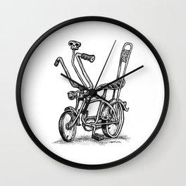 Skull Shifter Muscle Bike - Cartoon Retro Mod Stingray Bicycle Rat Rod Wall Clock