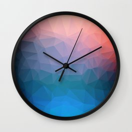 Abstract colorful triangles background Wall Clock