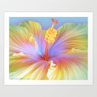 hibiscus Art Prints featuring Hibiscus by ShannonPosedenti
