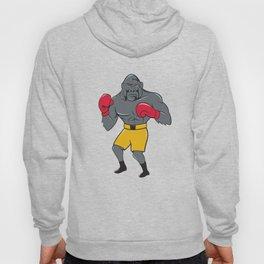 Gorilla Boxer Boxing Stance Cartoon Hoody