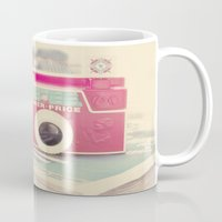 camera Mugs featuring Camera by Angie Ravelo Art & Photography