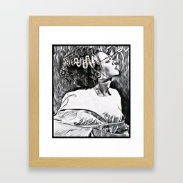 The Bride in Pen and Ink Framed Art Print
