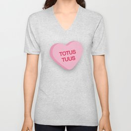 Catholic Conversation Heart Totus Tuus Unisex V-Neck