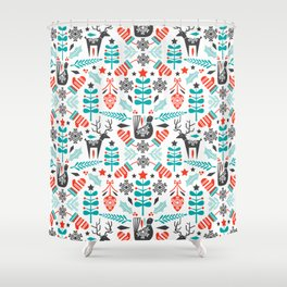 Hygge Holiday Shower Curtain