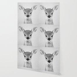 Baby Deer - Black & White Wallpaper