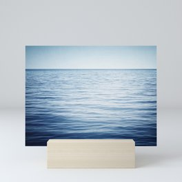 Blue Ocean Seascape, Dark Blue Sea Landscape Photography, Ocean Horizon Mini Art Print