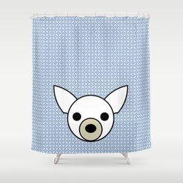 Pop Dog Chihuahua Shower Curtain
