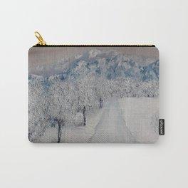 Winter Path, Original Contemporary Oil Painting, Modern Art, Fine Art by Lu aka Luna Smith Carry-All Pouch
