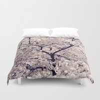 cherry blossom Duvet Covers featuring Cherry Blossom * by Neon Wildlife