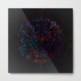 Rosette Moon Metal Print