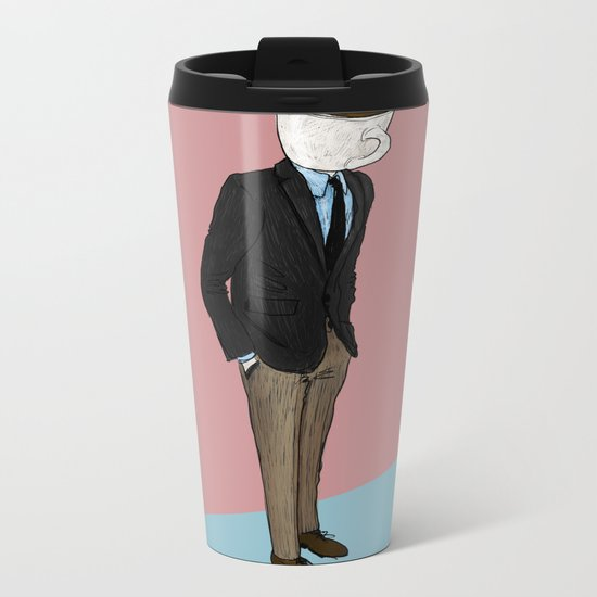 IT'S MORNING AND I THINK OF YOU Metal Travel Mug