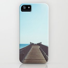 boardwalk leading into the great lakes iPhone Case