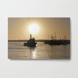 Morro Bay Fishing Trip Metal Print