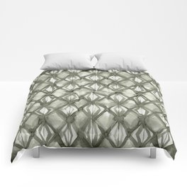 Braided Diamond Simply Green Tea on Lunar Gray Comforters