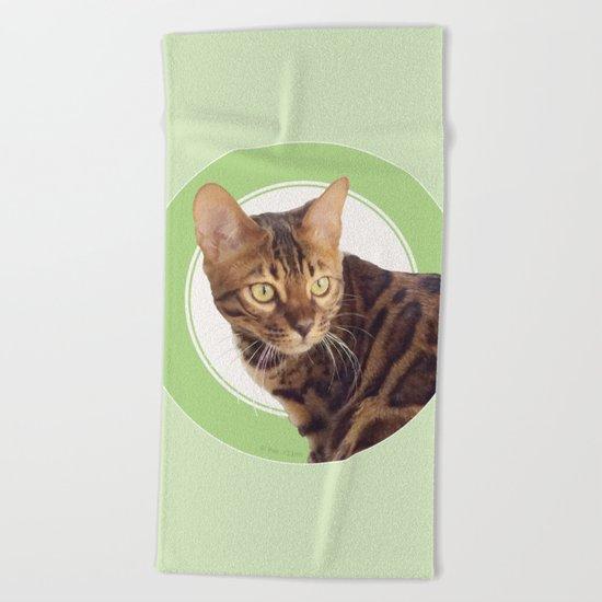 Boris the cat - Boris le chat Beach Towel