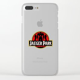 Jaeger Park - Jurassic Park Pacific Rim parody Clear iPhone Case