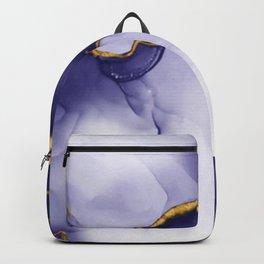 elegant golden blue effect Backpack