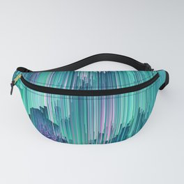 Emerald City - Glitched Pixel Abstract Art Fanny Pack