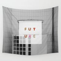 future Wall Tapestries featuring Future by Widhi Astana
