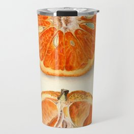 Vintage Painting of Tangerines Travel Mug