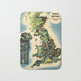 Great Britain 01 - Vintage Poster Bath Mat