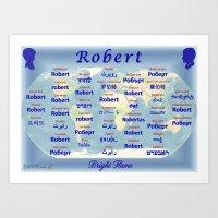 robert farkas Art Prints featuring Robert by JMcCombie
