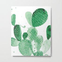 Green Paddle Cactus Metal Print