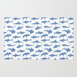 Sharks in Danube Blue Rug