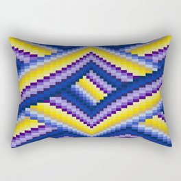Bargello Quilt Pattern Impression 2 Rectangular Pillow