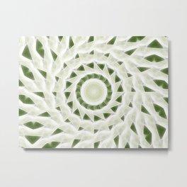 Green White Kaleidoscope Art 11 Metal Print