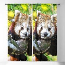 CArt red Panda Baby Blackout Curtain