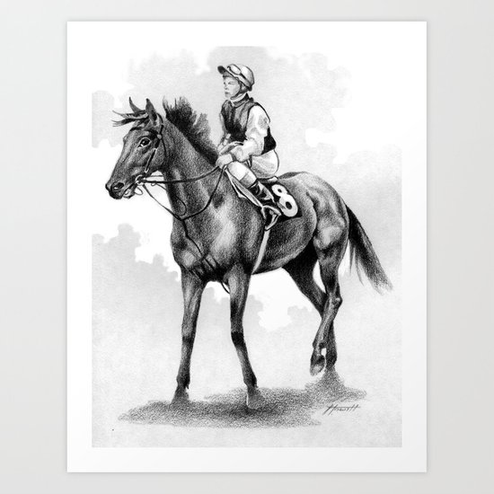 About To Play Up - Racehorse Art Print