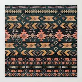 New Moon Boho Tribal Canvas Print
