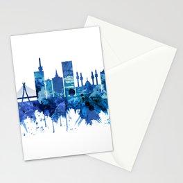Lagos Nigeria Skyline Blue Stationery Cards