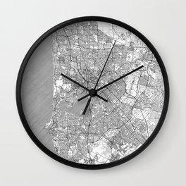 Perth Map Line Wall Clock