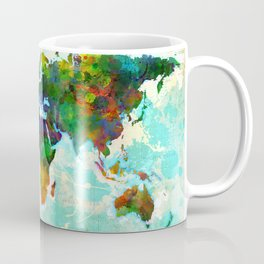 Abstract Map of the World Coffee Mug